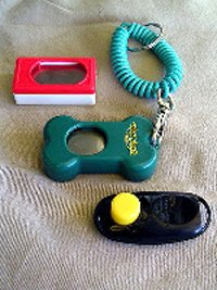 Dog training clickers.